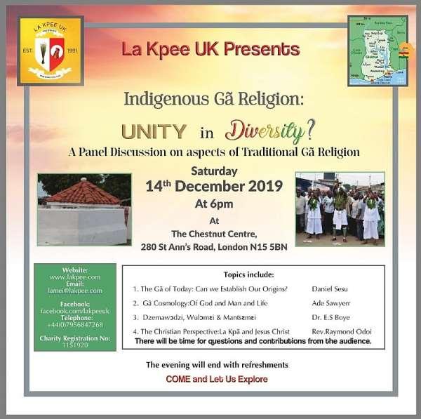La Kpee UK Presents Indigenous Ga religion: Unity in Diversity