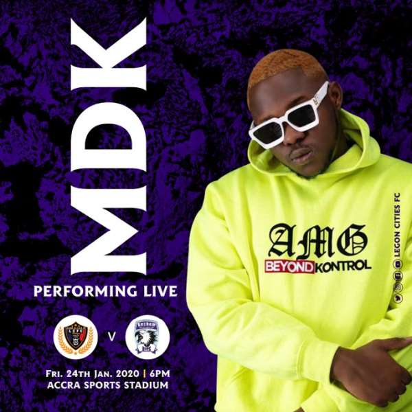 GHPL: Medikal To Perform At Legon Cities FC Clash With Bechem United