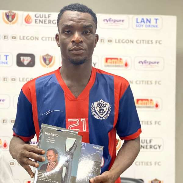 Baba Mahama named MoTM after excelling in Legon Cities FC's 5-2 win against Ashgold