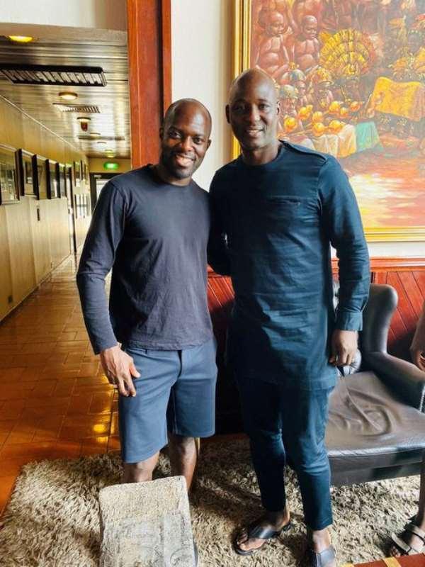 Anthony Baffoe Excited To Meet Former Black Stars Defender Hans Adu Sarpei