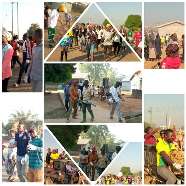 Nawuri's embarks on a clean-up exercise in Kpandai to mark their home coming
