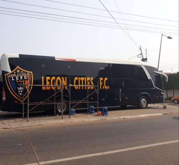 Legon Cities FC Unveil New Bus Ahead Of GPL Kick-Off