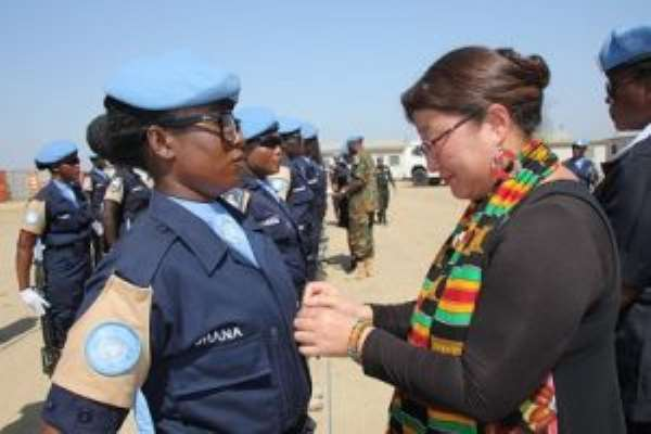 Ghana Formed Police Unit Officers For Service In South Sudan Honoured