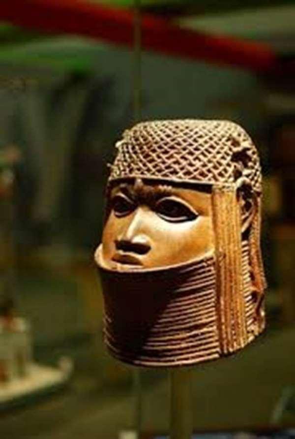Head of an Oba, Benin, Nigeria, now in Bristol Museum, Bristol, United Kingdom of Great Britain.