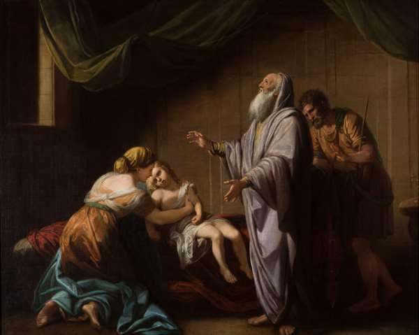 A Biblical illustration of Elisha, raising the son of the woman of Shunem, photo credit: Wikipedia