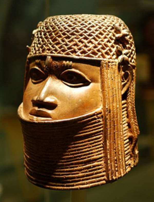 Wikimedia commons  Head of an Oba, Benin, Nigeria, now in Bristol Museum, Bristol, United Kingdom of Great Britain. Bristol Museum was ready to discuss restitution.