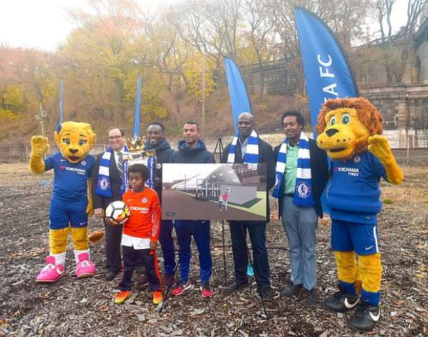 Micheal Essien Dedicates Field In Harlem As Part Of Chelsea Legends New York Tour