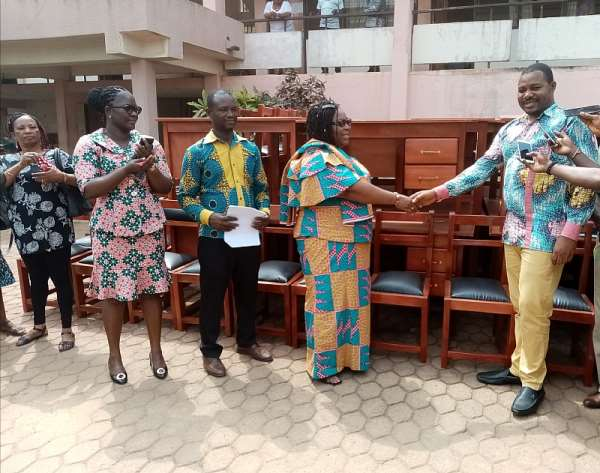 Obuasi MCE Distributes Furniture To Schools In Obuasi