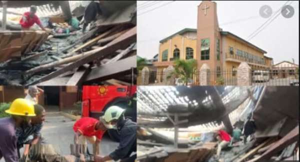 Adabraka: Methodist Church collapses, two reported dead