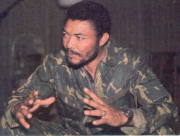 The messianic founder of Ghana's Fourth Republic: Jerry John Rawlings.