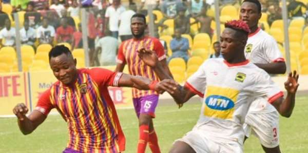 GHPL: Asante Kotoko Tame Hearts of Oak At Accra Sports Stadium