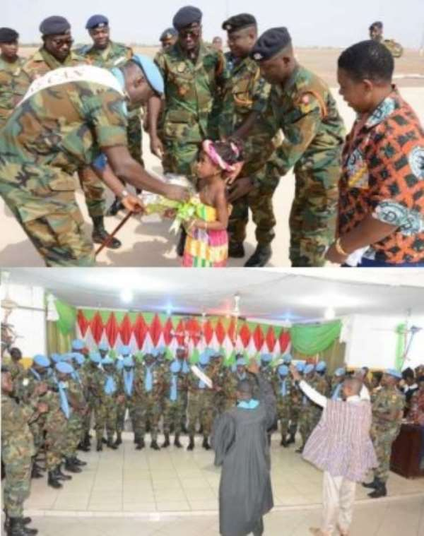 Soldiers On Mission Back From DRC