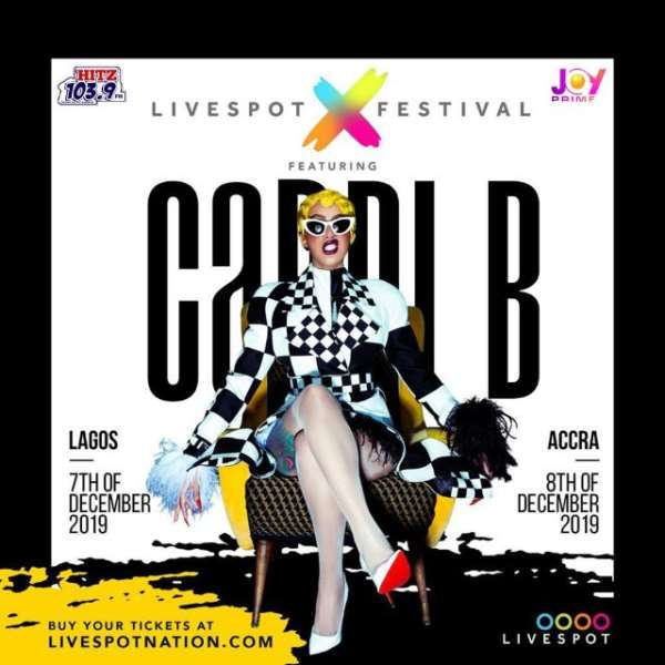 Cardi B Lands In Accra, Set For Accra Sports Stadium Concert Tonight