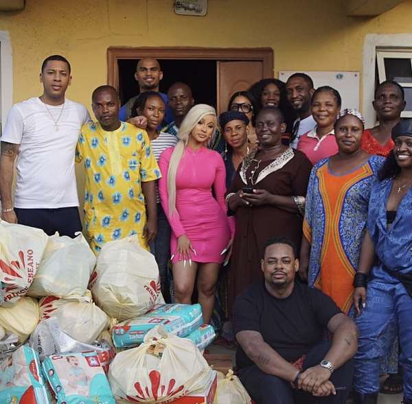 Photos: Cardi B Visits Orphanage Home In Lagos