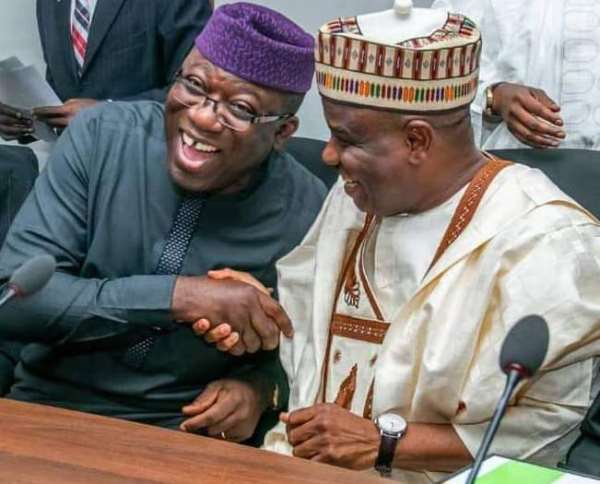 Ekiti state governor Dr Kayode Fayemi and Sokoto state governor Aminu Tambuwal