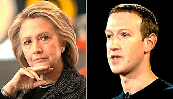 Hillary Clinton versus Mark Zuckerberg