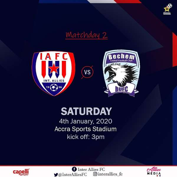 Match Preview: Inter Allies vs Bechem United – GPL Match Week 2