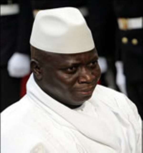 Yayha Jammeh to be isolated