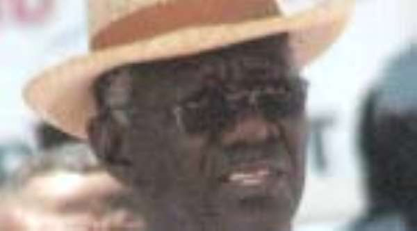 Kufuor Consoles Stars