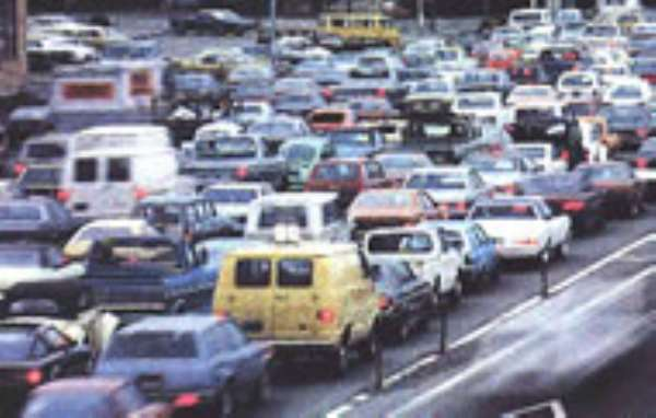 70,000 cars imported into Ghana yearly