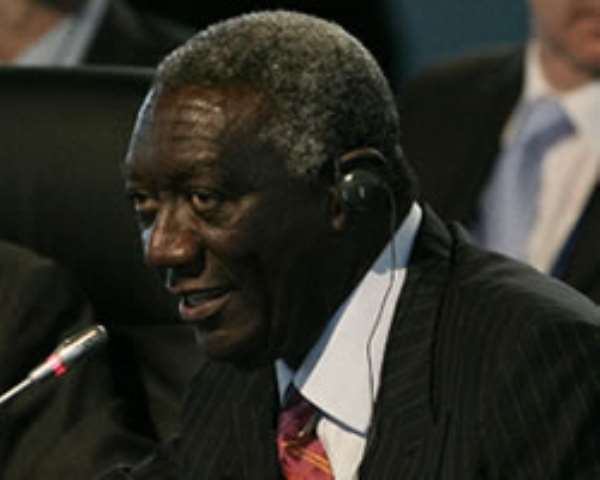 Kufuor meets Chinese power company delegation