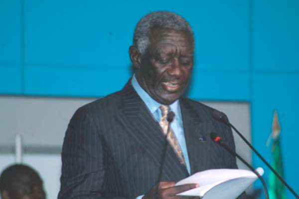 President Kufuor Grants Audience To J.P Morgan's CEO