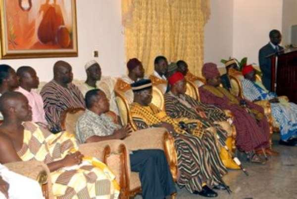 President Meets Kusasi Delegation