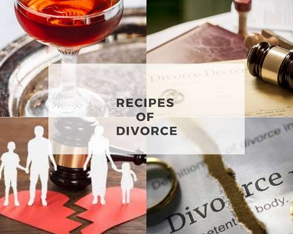 Some recipes of divorce and relationships wreckage