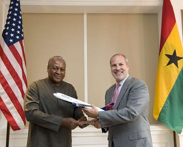 Delta Air Lines Welcomes The President Of Ghana To Its Atlanta Headquarters