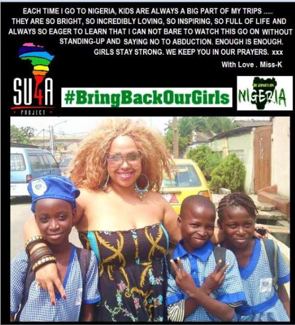 Miss-K Joins The Global Fight For #Chibok Girls Campaign!
