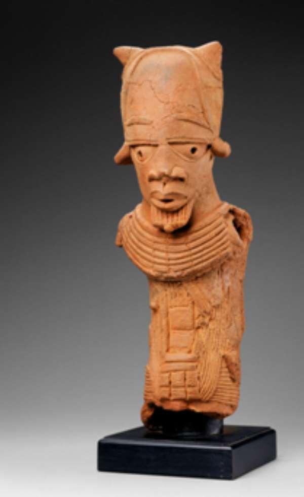 Returned- Nok Terracotta Male Figure 500 BC- AD 200