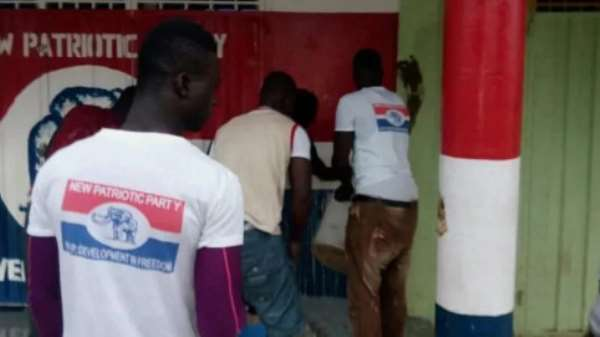 NPP's Sunyani West Office Smeared With Faeces