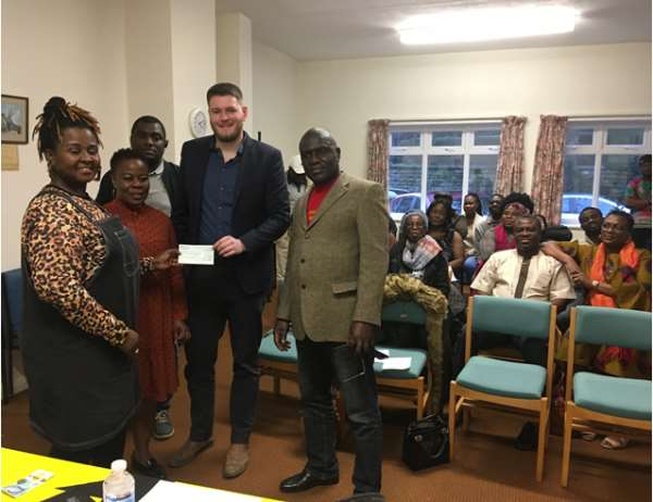 Ghana Association In Banbury Donates To 'Kicking Off' Charity In The UK