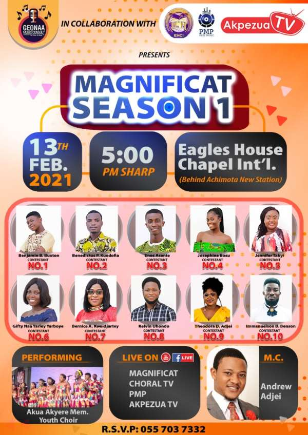 Hymns, Contemporary, Classicals Reality Show hits Accra this Saturday