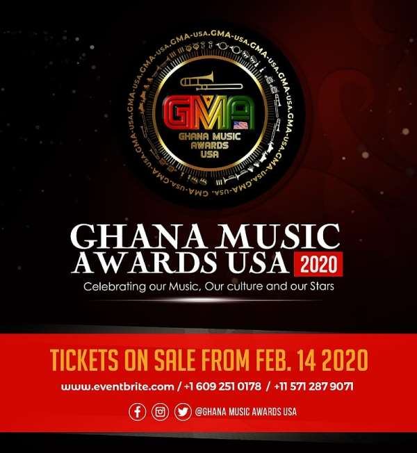 Ghana Music Awards USA Opens Ticket Sales From February 14