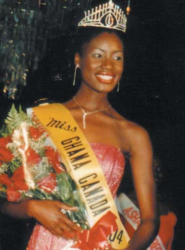 Miss Ghana-Canada on a duty tour to Ghana