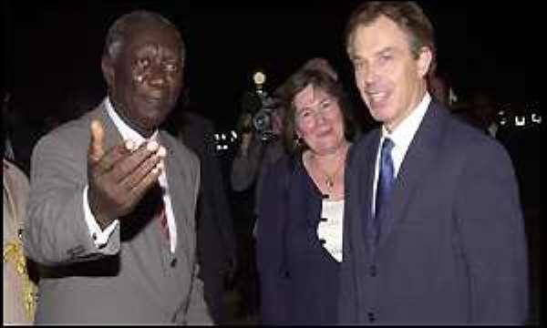 Kufuor Meets Blair in London Next Week