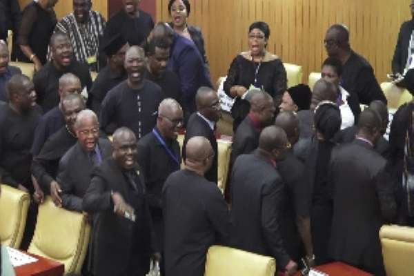 We Walked Out On A Tyrant, Depotistic And Authoritarian Akufo-Addo — Minority