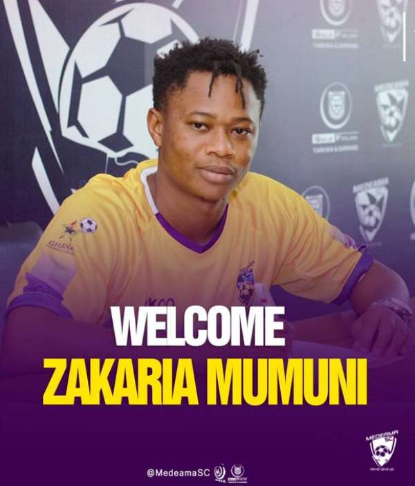 Medeama SC announce Zakaria Mumuni signing