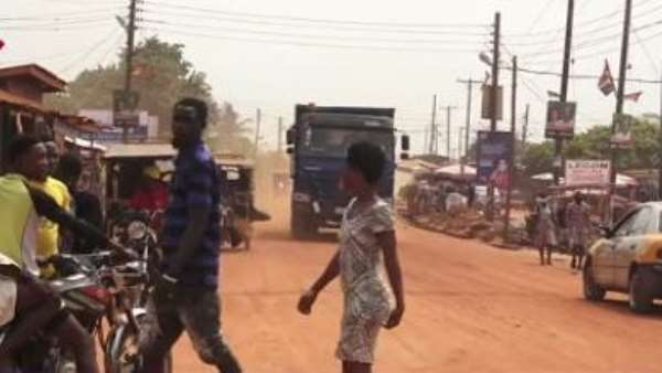 Abokobi youth march in Ga East Assembly to protest bad roads