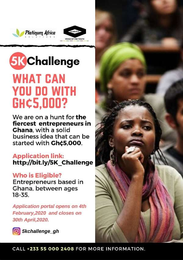 The 5k Challenge Launched To Dare Entrepreneurs In Ghana