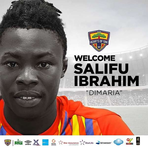Official: Hearts of Oak confirm signing of Ibrahim Salisu from Eleven Wonders
