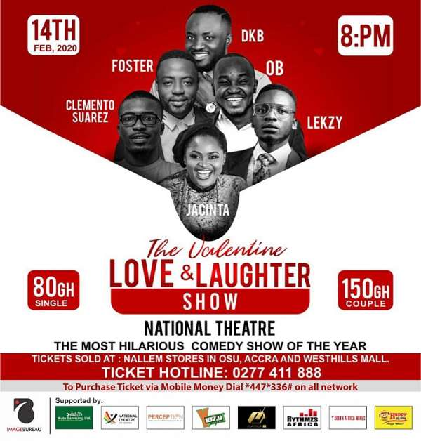 DKB, Clemento Suarez, Jacinta, Foster Romanus & Others To Show Love & Laughter On Val's  Day