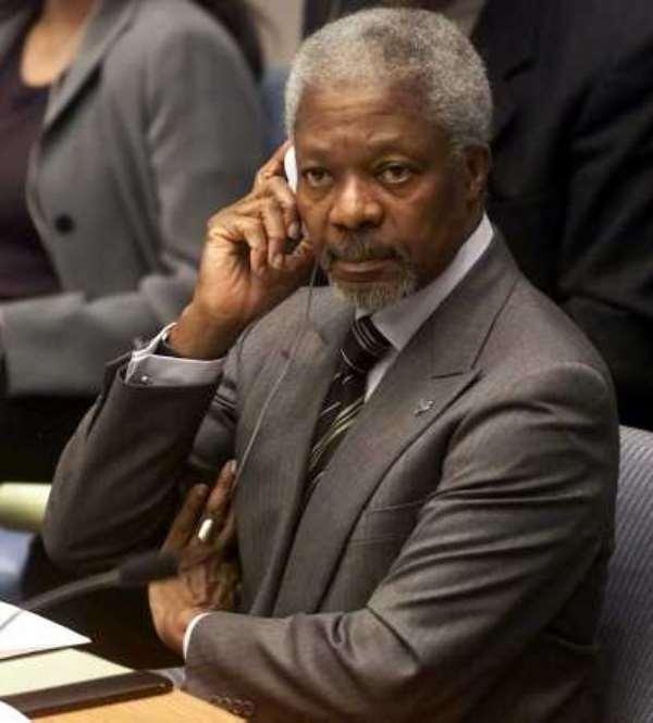 Kofi Annan's son in pay scandal