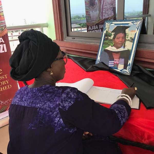Dzifa Gomashie Mourns With The Avedzi Family
