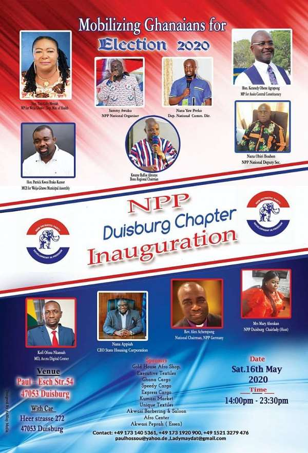 Inauguration Of NPP Duisburg Chapter-Mobilizing Ghanaians For Election 2020