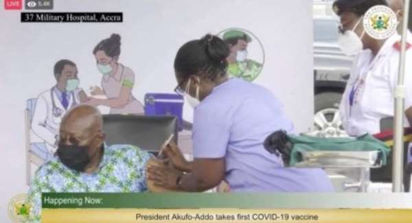 Why was the nurse not wearing gloves? - Ama K. Abebrese quizzes After Akufo-Addo takes COVID-19 jab