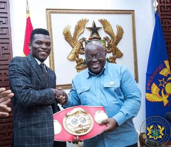 IBF Champion Richard Commey Receives Car, GHC50,000From Nana Akufo-Addo