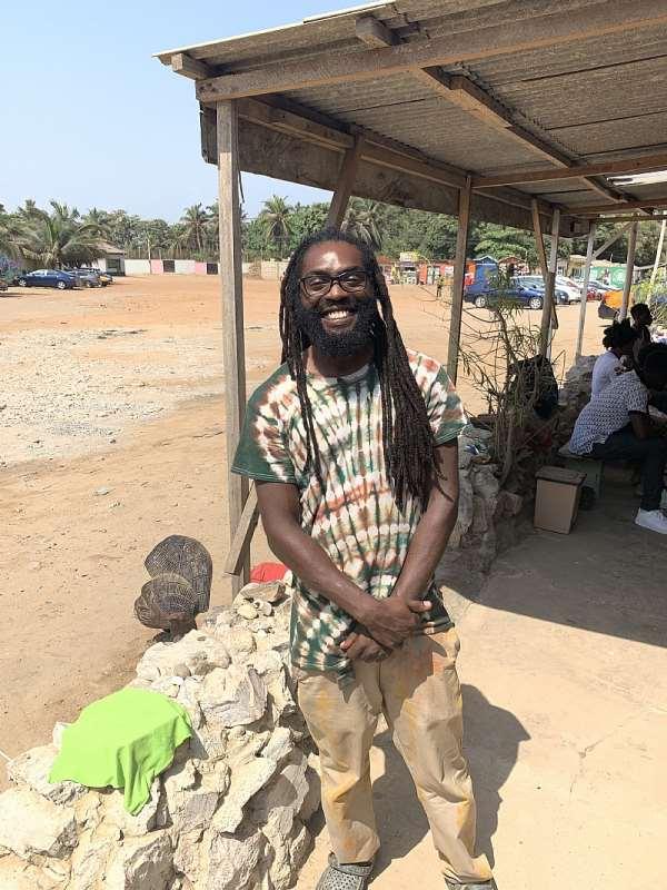Titus Busbee at Labadi Beach Gift Shop