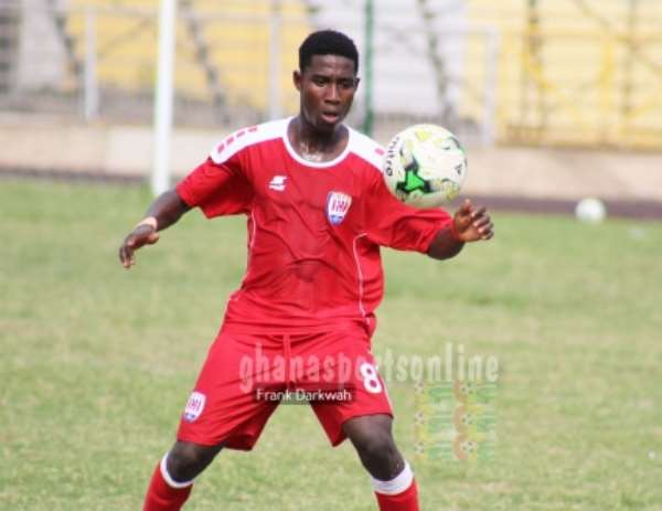 Inter Allies youngster Isaac Twum recovers from a minor knock to face Great Olympics on Wednesday